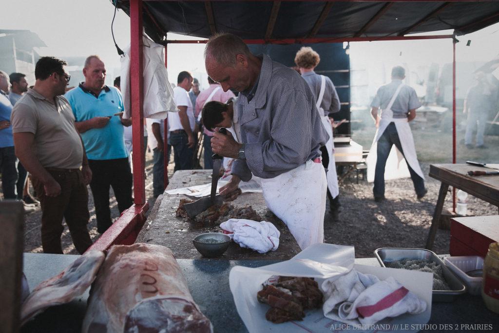 Photo découpe viande foire Lessay